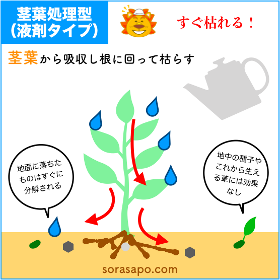 液体除草剤の使い方